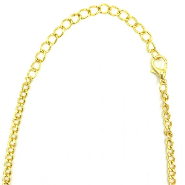 Ready made curb chain 3mm x 5mm 31.5 inches - gold